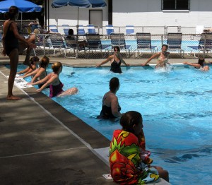 watercize class at bergen county swim club